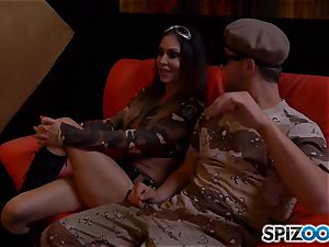 Jessica Jaymes and Nina Elle get off with army fellow fuckpole