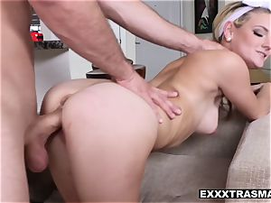 tiny intercourse chick hope Harper gets a big facial