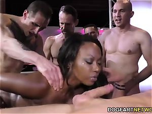 ebony Skyler Nicole loves anal fuck-a-thon and gang-fuck