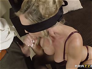The husband of Brandi enjoy lets her penetrate a different boy