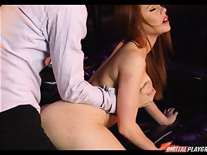 Ella Hughes rides on the monster chisel of Danny D