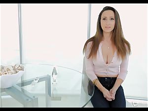 Ashley Adams gasps as her culo is drilled