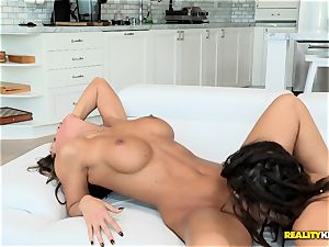 pussy munching lesbians Abigail Mac and Daisy Summers enjoy gobbling out
