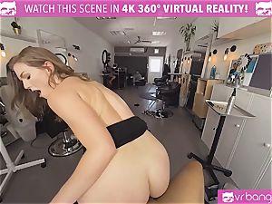 VRBangers.com Hairdresser Ella boned hard and facial