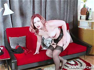 torrid babe peels off ebony undergarments masturbates in nylon garter