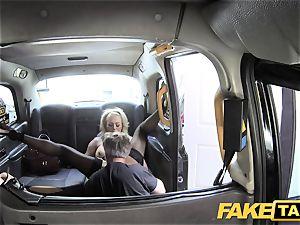 faux taxi kinky milf wants a large shaft inside her