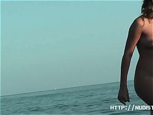 An supreme spy web cam bare beach voyeur vid