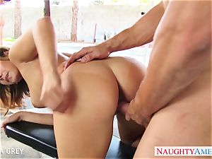 massive titted blondie Keisha Grey taking a immense spunk-pump