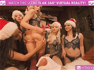 VRBangers Christams bang-out With Eight stunning Elves