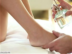 masseur's pink cigar deep into the taut fuck-holes