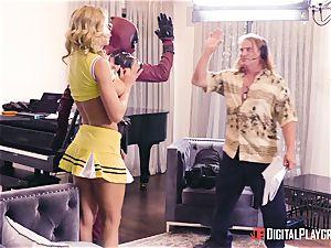 Jessa Rhodes gets humped by strung up superhero