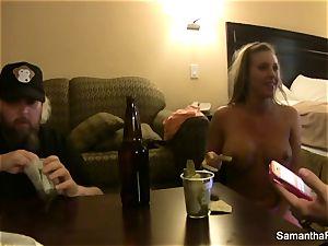 Behind the vignettes with blondie hottie Samantha Saint