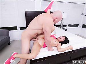 tied trouser snake cum shot and misty suck off first-ever time Kira Adams gets a ample facial cumshot money-shot
