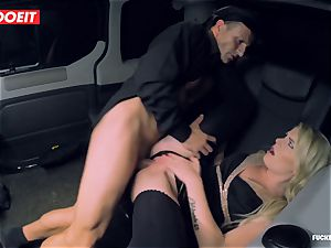 scorching Czech honey pokes the Driver to come back her Luggage