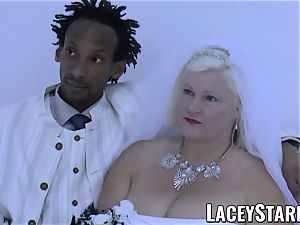 LACEYSTARR - grandma bride fed with cum after plumbing