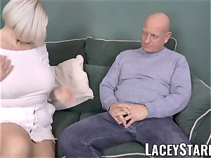LACEYSTARR - chesty GILF negotiates a great cooter deal