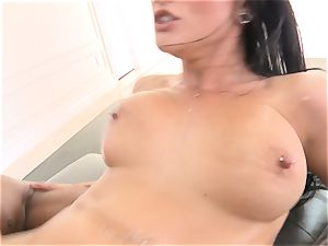 Creaming inwards luxurious brown-haired Katrina Jade