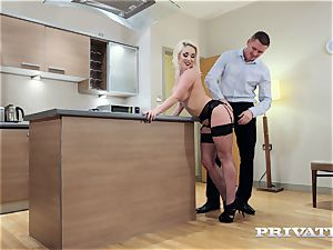 Private.com huge-titted Victoria Summers smashes in stocking