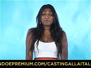 casting ALLA ITALIANA - Indian stunner gets meaty spunk-pump assfuck