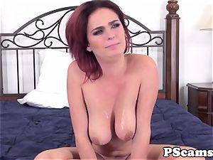 ginger-haired web cam babe Ashlee Graham cockriding