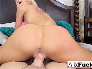 Alix makes excellent use of a immense hard-on