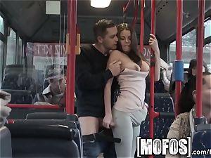 Mofos - Bonnie Shai gets pummeled on the bus