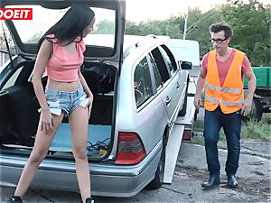 LETSDOEIT - nubile porks senior man For Free Car Repair