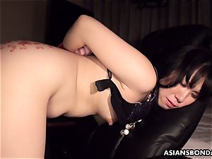 Pouring super-hot candle and lubricant on her bum as shes smashed