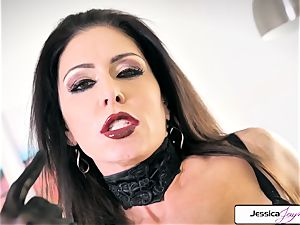 Jessica Jaymes demonstrate her enormous fun bags and little moist cooter