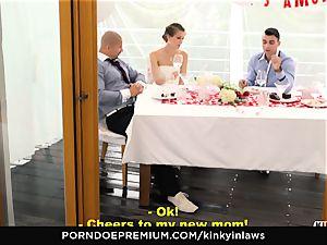 kinky INLAWS - european bride boinked deep by stepson