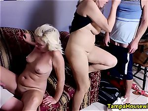 two chicks commence, two men accomplish with Ms Paris Rose