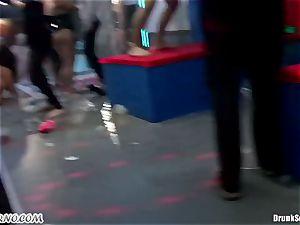 Mass pornography orgy in a striptease bar