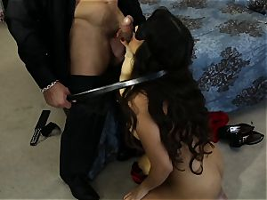 buxom latina Mercedes Carrera smashed in her tight wet snatch