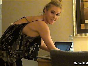Behind the vignettes with platinum-blonde superstar Samantha Saint
