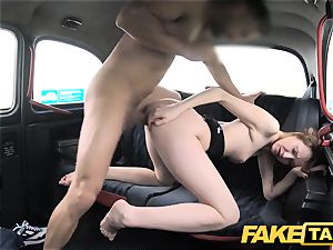 faux cab slender redhead likes harsh fuck-a-thon