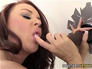 Janet Mason Quenches Her thirst For Random dark-hued beef whistle