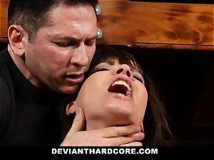 DeviantHardcore-Hot cougar massaged and cuffed To Cross