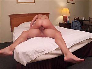 Brianna dark-skinned caught on spy webcam as she pummels