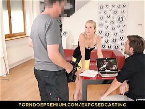 uncovered casting - bodacious stunner sex expertise test in casting