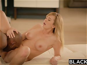 BLACKED Brett Rossi frightened From Her Ex hefty dark-hued manager Protects Her