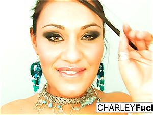 Charley haunt unwraps off her spectacular garment and stretches