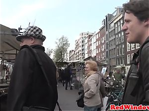 Longhaired dutch escort gets drilled