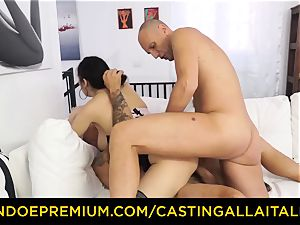 audition ALLA ITALIANA - super-steamy milf has dual assfuck joy