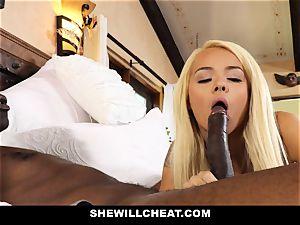 SheWillCheat hotwife wifey absorbs ebony beef whistle
