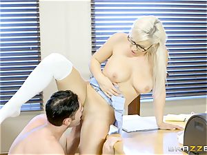 mischievous student Kylie Page pummels her teacher