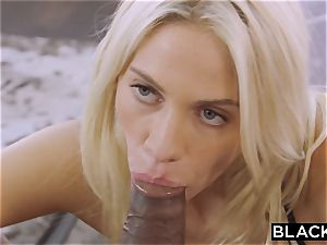 BLACKED blonde school woman PUNSIHED by big black cock