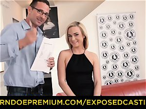revealed audition - slim blond pulverized and facialized