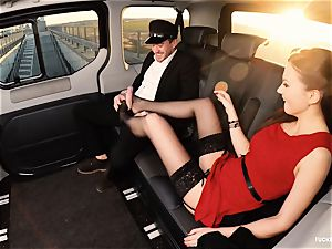 plowed IN TRAFFIC - british Tina Kay plumbed in the car