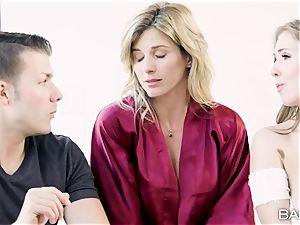 Cory pursue and Lena Paul share a massive knob