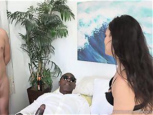 Paisley Parker Gets black salami and husband gobbles Up cum